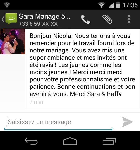 Félicitations Mariage Sara & Raffy